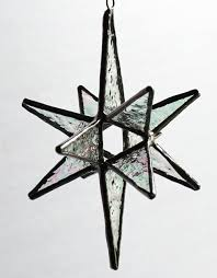 stained glass bethlehem moravian ornament sun catcher