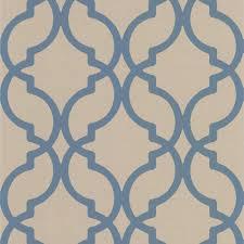harira blue moroccan trellis wallpaper dl30617 the home depot