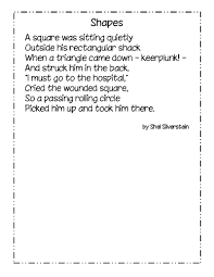 jack prelutsky thanksgiving poem a shel silverstein poem about shapes math pinterest shel