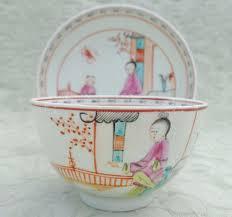 mandarin porcelain antique lowestoft porcelain tea bowl saucer mandarin green