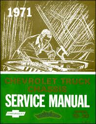 shop manual service repair 1971 chevrolet book chevy truck pickup gmc