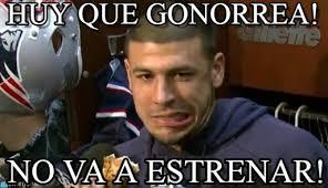 Hernandez Meme - huy que gonorrea aaron hernandez stumped meme on memegen