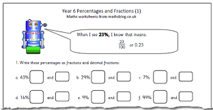 free maths worksheets year 6 year 6 maths worksheet percentages and fractions maths