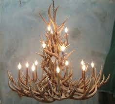 Cheap Fake Chandeliers Decor Redoubtable Deer Horn Chandelier With Alluring Antler
