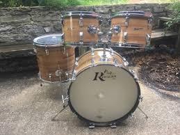 rogers fullerton powertone butcher block 4 piece drum kit reverb