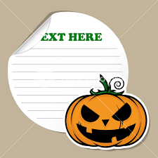 stickers with cartoon halloween pumpkin vector royalty free