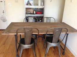restoration hardware flatiron table restoration hardware flatiron table with gunmetal chairs dining