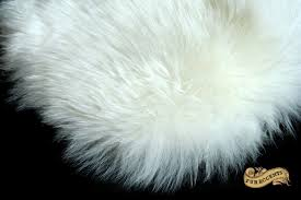 thick white mountain sheepskin faux fur rug by fur accents