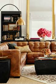 Living Room Decor With Brown Leather Sofa Tanned Leather Sofas Are The Decorating Trend Of 2016