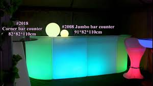 led straight and corner bar counter extensible led bar furniture