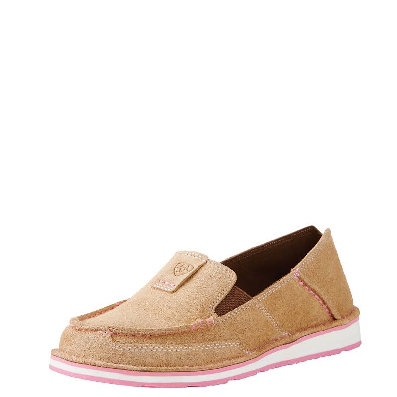 Ariat Ladies Cruiser Dirty Taupe Suede Shoe 10019889