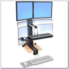 dual monitor stand up desk dual monitor stand up desk desk home design ideas 8angvw0pgr74284