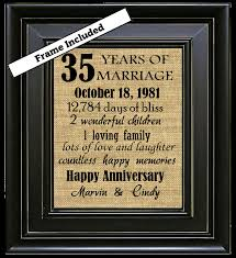 35th wedding anniversary gifts framed 35th wedding anniversary 35th anniversary gifts 35th wedding