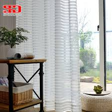 aliexpress com buy modern striped window tulle curtains for