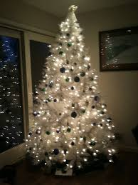 white tree with lights shocking color changing white pine small christmas tree mood l
