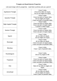 best ideas of triangle and quadrilateral worksheets in reference