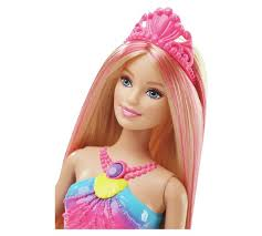 buy barbie rainbow lights mermaid doll argos uk