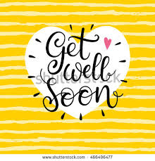 get well soon cards get well soon vector text stock vector 466496477