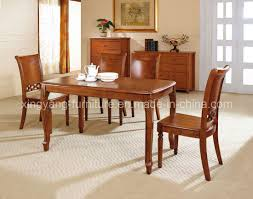 Solid Wood Dining Room Furniture Dining Room Furniture Sets With Black Metal Dining Chairs And