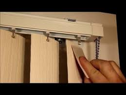 Replacement Vertical Blind Slats Fabric How To Remove And Replace Vertical Blind Vanes Youtube