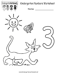 Noun Worksheet Kindergarten Kindergarten Numbers Worksheet Bosschens