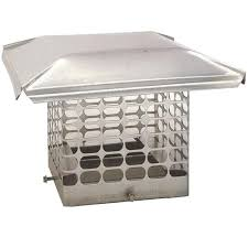 the forever cap 9 in x 17 in adjustable stainless steel chimney