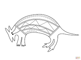 aboriginal painting of wallaby coloring page free printable
