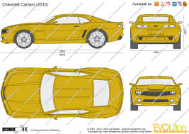 2012 camaro dimensions the blueprints com vector drawing chevrolet camaro