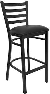 restaurant supply bar stools amazon com flash furniture hercules series black ladder back metal