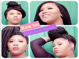 black hair braiding styles for balding hair how to style box braids for thinning edges temples youtube