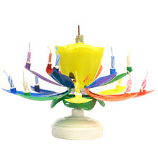 lotus birthday candle rainbow yellow bud musical flower birthday candles lotus flower