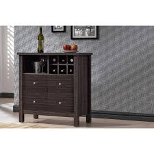Espresso Bar Cabinet Traditional Brown Wood Wine Cabinet By Baxton Studio Free