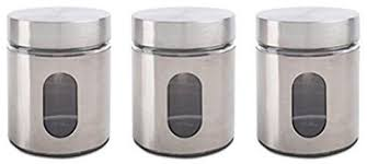 silver kitchen canisters glass storage canisters 3 silver priority chef