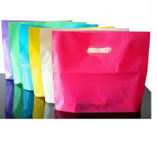 500pcs 4 sizes wholesale 40x31cm large plastic bags with handle