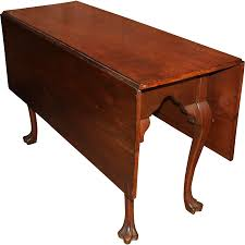 Queen Anne Secretary Desk by Queen Anne Walnut Drop Leaf Dining Table With Rare Trifid Feet