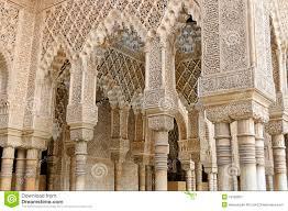 moorish architecture moorish art and architecture inside the alhambra stock image