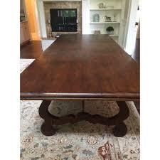 large trestle dining table large trestle dining table chairish
