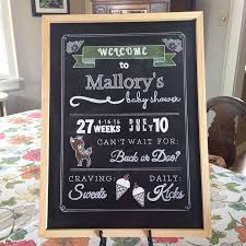 baby shower sign diy chalkboard baby shower sign is sweet as a