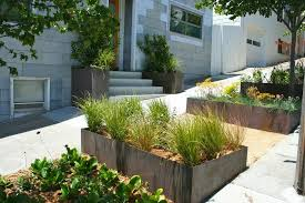 modern planters indoor landscape contemporary with curb appeal