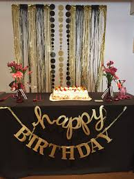 Colors Party City Black And Gold Birthday Decorations With Black
