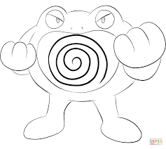poliwrath coloring page free printable coloring pages
