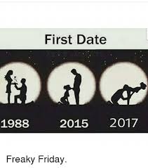 Freaky Sex Memes - first date 1988 2015 2017 freaky friday friday meme on me me