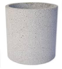 zakkia narural concrete pot planter large honey jackson