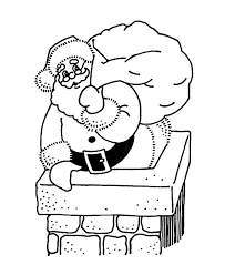 christmas chimneys coloring pages download print free