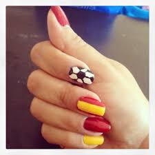 spain nail art my other favorite team to win worldcup worldcup