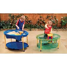 adjustable sand and water play tables blue gls educational