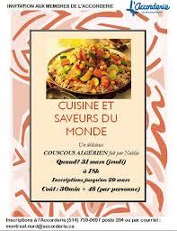 cuisine et saveur du monde cuisines et saveurs du monde algérie montréal nord