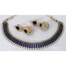 necklace set blue stone images Antic dark blue stone gota necklace set jpeg