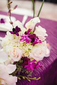 Floral Decor Tropical Purple And White Floral Reception Decor Elizabeth Anne