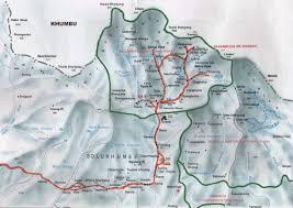 Nepal Map World by Kyazo Ri Peak Climbing